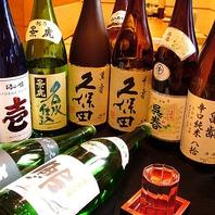 日本酒20~30種・焼酎30~40種と種類豊富!