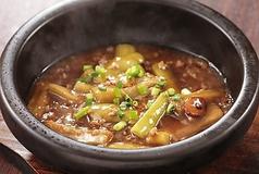 茄子と豚挽肉の土鍋仕立て