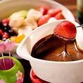 料理メニュー写真フォンデュ チョコレート