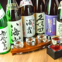 店内に日本酒を多数ご用意♪