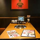 お席のタッチパネルからご注文いただけます。※写真は系列店です。