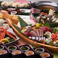 豪華舟盛♪【春の山海コース】選べるメイン・ずわい蟹など9品+飲み放題⇒5000円♪