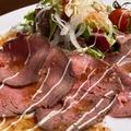 料理メニュー写真ローストビーフのカルパッチョ サラダ仕立て