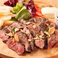 料理メニュー写真特選! 牛モモのステーキ