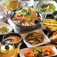 宴会コースは人気のお鍋5種類をご用意