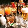和食に合う日本酒・焼酎が充実!女性の方やお酒が苦手な方にも楽しんで頂けるよう、厳選して取り揃えていますので是非お気軽にご相談ください!