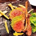 料理メニュー写真仔羊の香草パン粉焼き