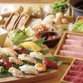 お寿司も食べ放題!生ビールなどお酒との相性も抜群です同窓会や歓迎会・送別会・二次会などの各種ご宴会は、食べ放題飲み放題プラン充実のしゃぶしゃぶ温野菜におまかせください!
