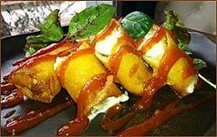 モッツァレラチーズ豚肉の春巻き