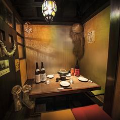 宴会向きの席マタギの癒し部屋 半個室