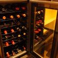 ワインも充実の取り揃え。