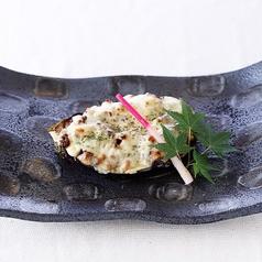 米茄子の肉味噌チーズ焼き