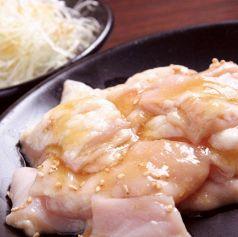 料理メニュー写真ネギ塩ガツミノ