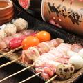 料理メニュー写真佐賀県産みつせ鶏串おまかせ (8本)