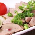 料理メニュー写真朝〆長崎若鶏 白レバーの炙り