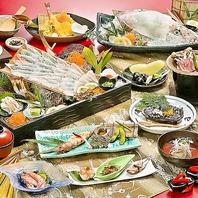 海を一望しながら旬の魚介類をご堪能ください♪