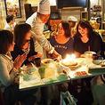 女子会にテラス・店内が大人気♪コースメニューでもアラカルトから料理の追加が可能です。事前のご要望にもお応えします。