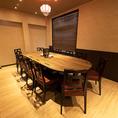 ゆったりとした完全個室は少人数でもご利用可能。