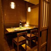 人気の個室席は人数様に合わせて様々なバリエーションの個室席をご用意。プライベート空間で愉しいお時間をお過ごし下さいませ♪