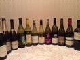 フランス産、山梨県産を中心にソムリエがセレクトする美味しくてお手頃なワインが豊富。