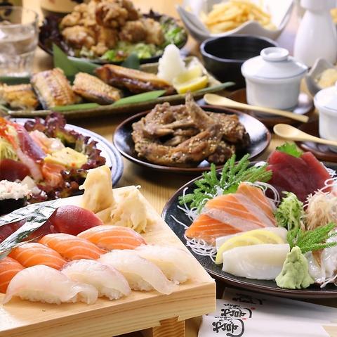 【120分スタンダード飲み放題付】「ガッツリ食べて超満腹!」コース4700円(税抜)