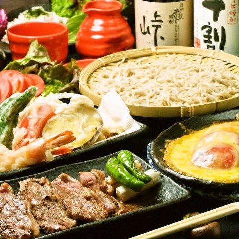 自慢のお蕎麦をはじめ絶品料理のコース☆4000円コースご利用で10名様~貸切OK!!