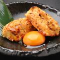 料理メニュー写真つくね(卵黄・チーズ・ポン酢・タルタル・とろろ)