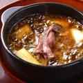 料理メニュー写真炙り牛ハラミ ソウルアヒージョ