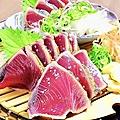 料理メニュー写真高知県産 戻り鰹の塩タタキ
