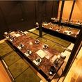 【掘りごたつ個室:2名様~180名様迄】合コン・女子会・会社宴会等、お客様の利用シーンに最適な個室へご案内させていただきます。