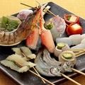 料理メニュー写真~魚介類串について~