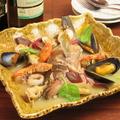 料理メニュー写真富山県産天然鮮魚の和クアパッツァ