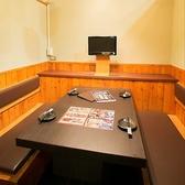 個室でゆっくり寛ぎながら、お食事をお愉しみいただけます。