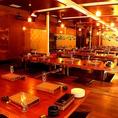 【掘りごたつ個室】最大62名様までご利用頂けるお席となっております。会社宴会などでご利用下さい。
