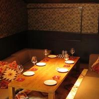 《感染症対策実施中》個室席も各種ご用意しております