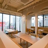 お席は広々とした快適な空間になっています。ご家族様でのお食事にも最適!お子様連れにも◎