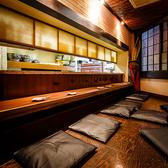 カウンターとしても個室としても人気のお席です。
