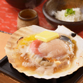 料理メニュー写真北海道産 活ホタテの浜焼き