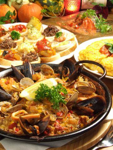 本格地中海料理が味わえ、手頃なタパス(小皿料理)も種類豊富なお店!