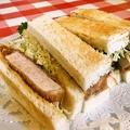 料理メニュー写真ポークカツサンドイッチ