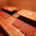 6名ずつ座れる掘りごたつのお席が二つ並んだお部屋です。10名様~12名様でご利用いただけるゆとりのある空間で様々なご用途に対応できます。1番人気のお部屋ですので、ご予約はお早めにお電話くださいませ。(神保町/宴会/飲み会/接待/個室)
