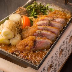 料理メニュー写真合鴨とせりの鍬焼き