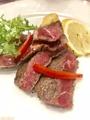 料理メニュー写真牛肉のリブロースステーキ