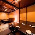 ゆったりとした掘りごたつ個室で料理人が丁寧に仕上げたお料理をお楽しみください。合コン、女子会などなど様々なシーンにご利用いただけます。日本庭園を思わせるようなこだわりの空間で、人数に応じた様々な個室をご用意しております。