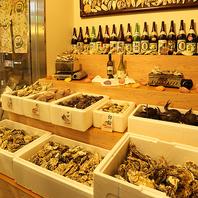 全国から選りすぐりの牡蠣やサザエがズラリ!!