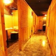 気兼ねなく楽しめる個室空間で美味しい串カツを。