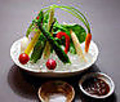 料理メニュー写真健康野菜の小さな菜園風