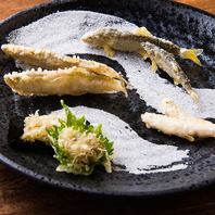 季節や仕入れに応じた日替わりの天ぷらをご用意