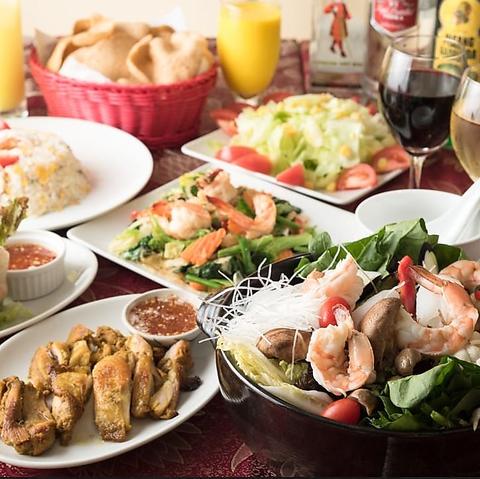 おひとり様でのお食事から、数々のおつまみとお酒も楽しめるアジアンダイニング
