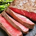 料理メニュー写真国産牛芯ロースのローストビーフ